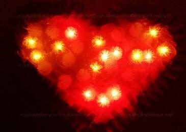 Как сделать пылающее сердце на День Влюбленных